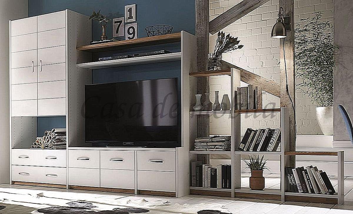 Massivholz Wohnwand Regal Raumteiler