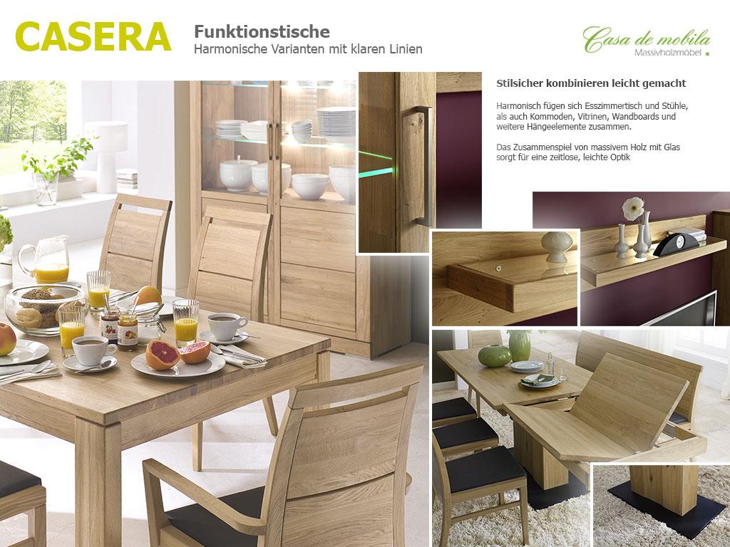 Massivholz Ausziehtisch Eiche Casera Tisch ausziehbar Küchentisch