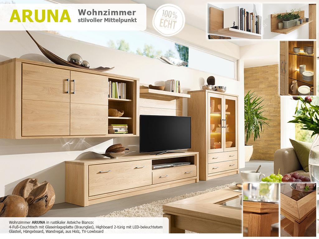 ARUNA-Wohnzimmer-4-Fuß-Couchtisch-Highboard-TV-Board-Wandregal