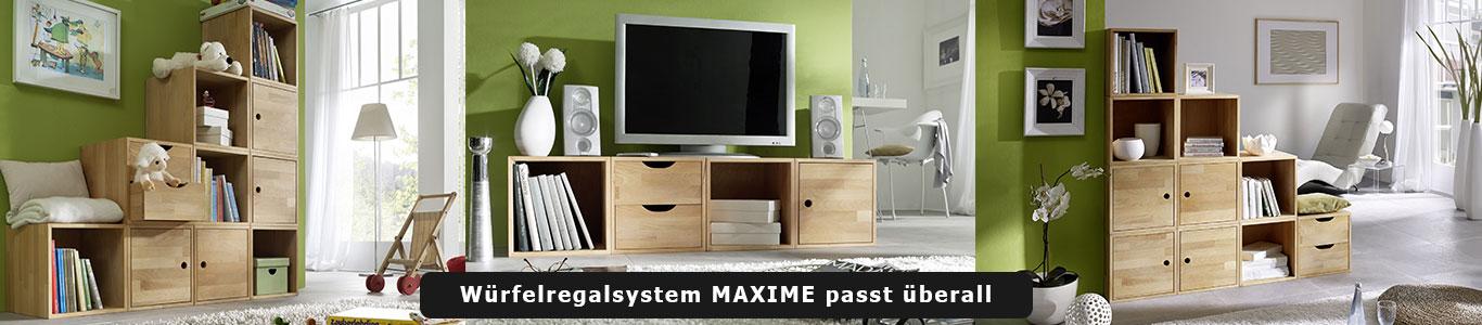 Würfelregal MAXIME Massivholz