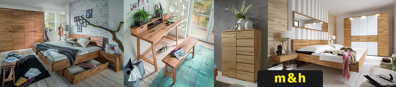 Massivholz Schlafzimmer Set komplett M&H