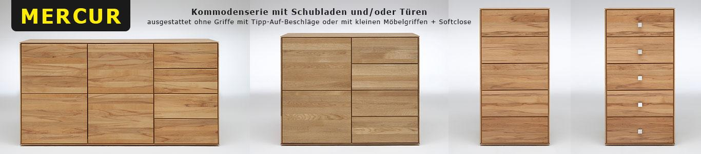 Kommode Schubladenkommode Massivholz Kernbuche m&h