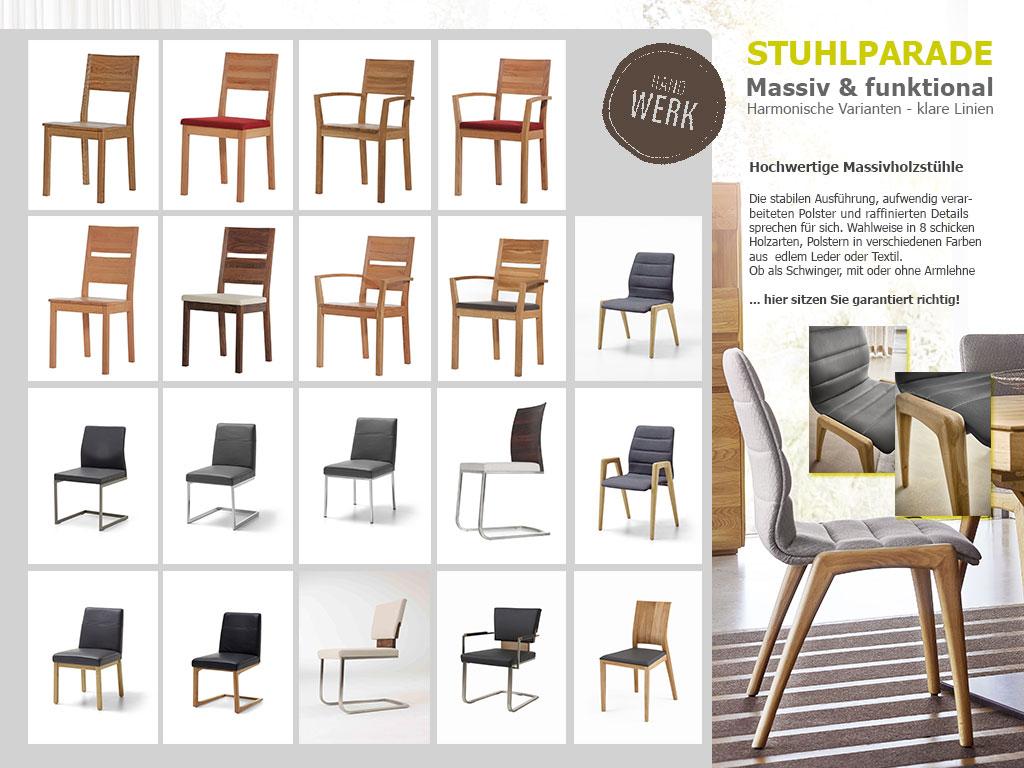 Übersicht Stühle