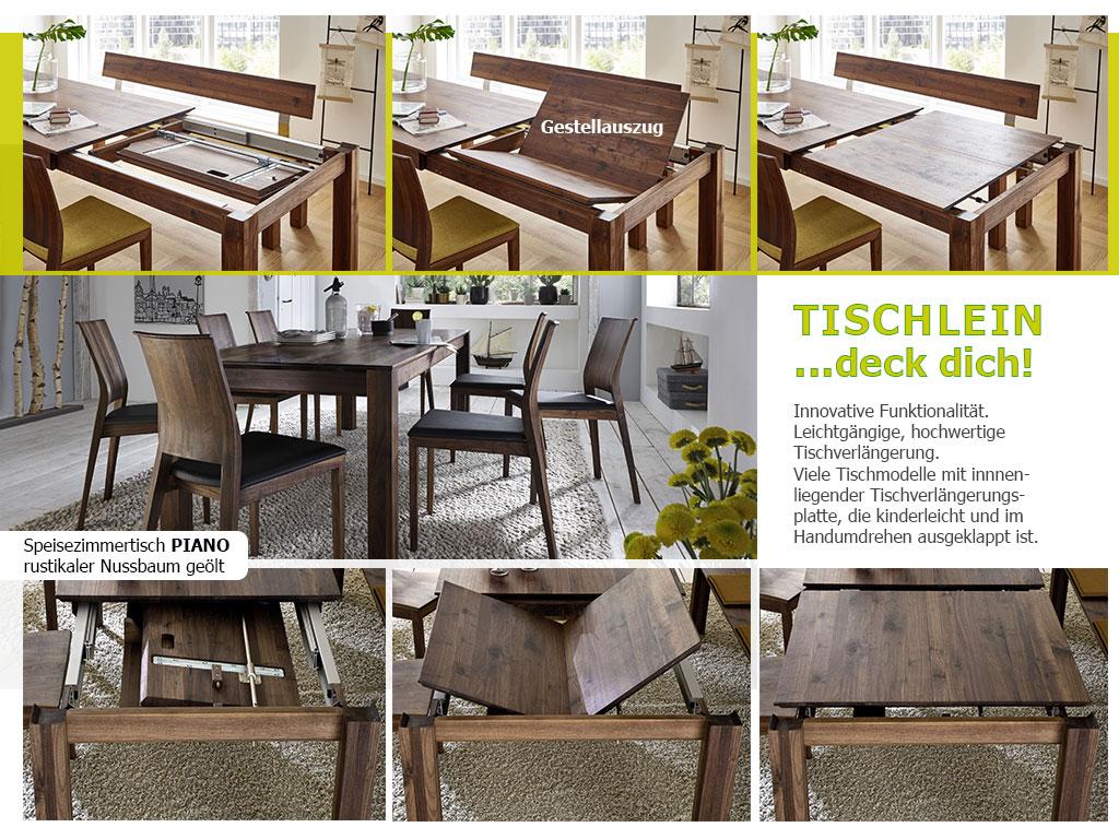 Tischauszugvarianten-Massivholz-Küchentisch-PIANO-Gestell+Zargenauszug