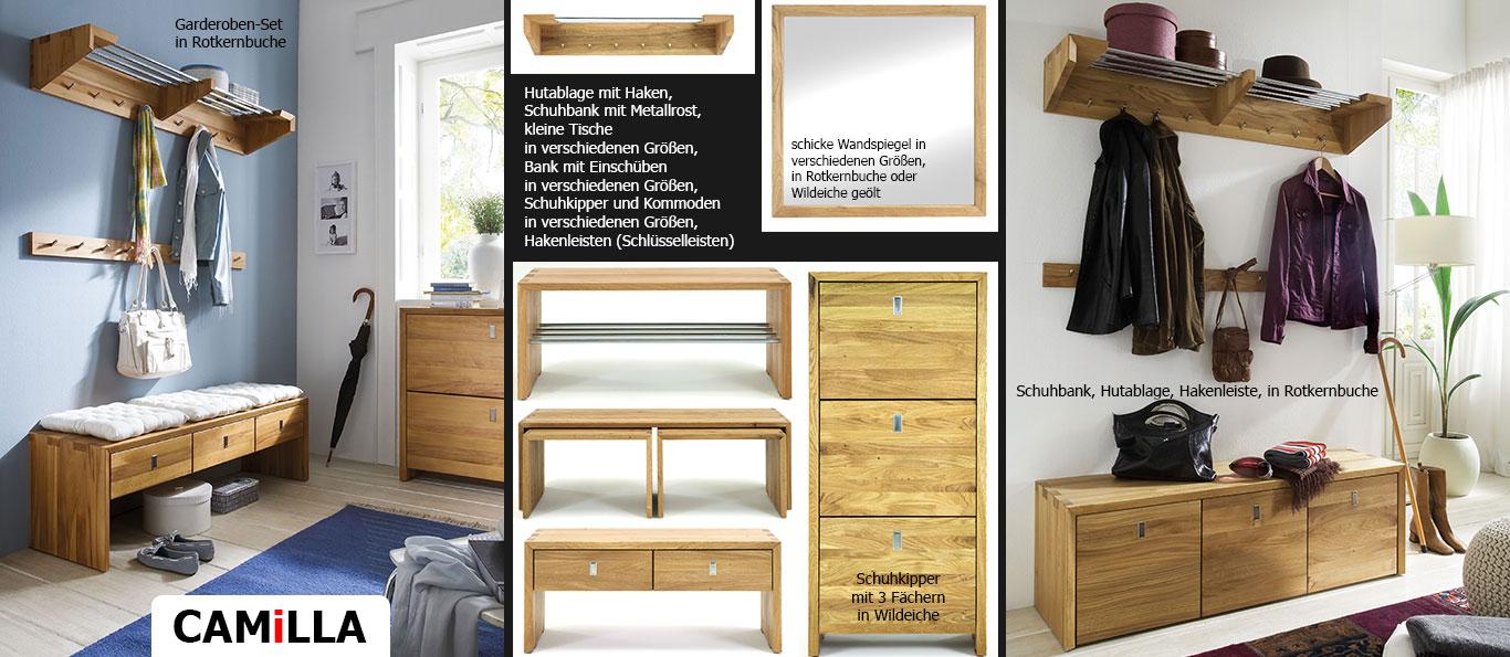 Massivholz Möbelprogramm CAMiLLA