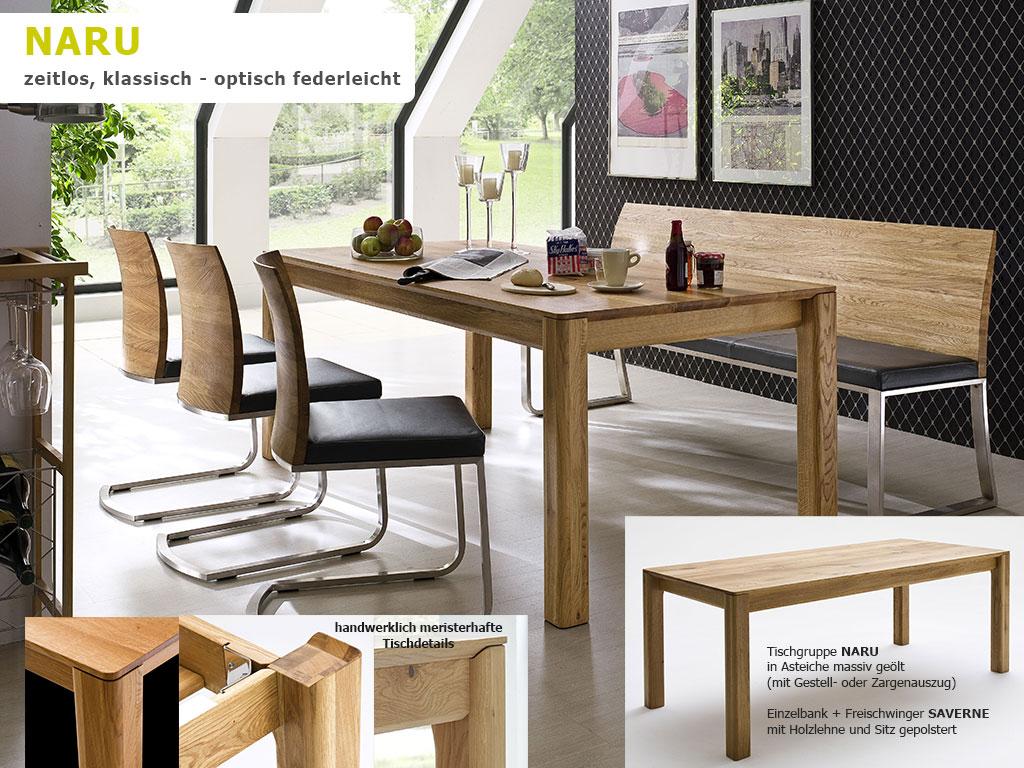 Tischgruppe-NARU-Massivholz-Esszimmertisch