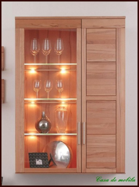 h ngevitrine h ngeschrank holz kernbuche buche massiv. Black Bedroom Furniture Sets. Home Design Ideas