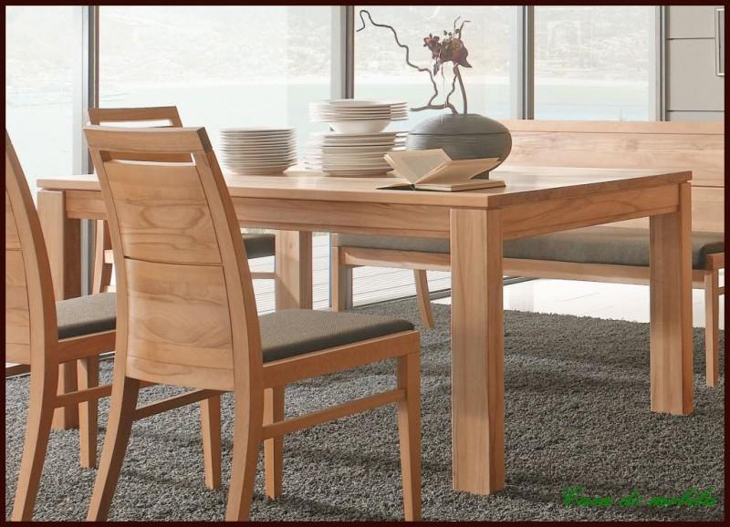Esstisch Tisch ausziehbar Holz Kernbuche Buche massiv  eBay~ Esstisch Holz Naturbelassen