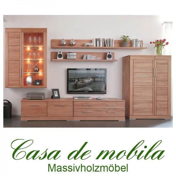 wohnwand anbauwand schrankwand massivholz kernbuche holz buche massiv ge lt. Black Bedroom Furniture Sets. Home Design Ideas