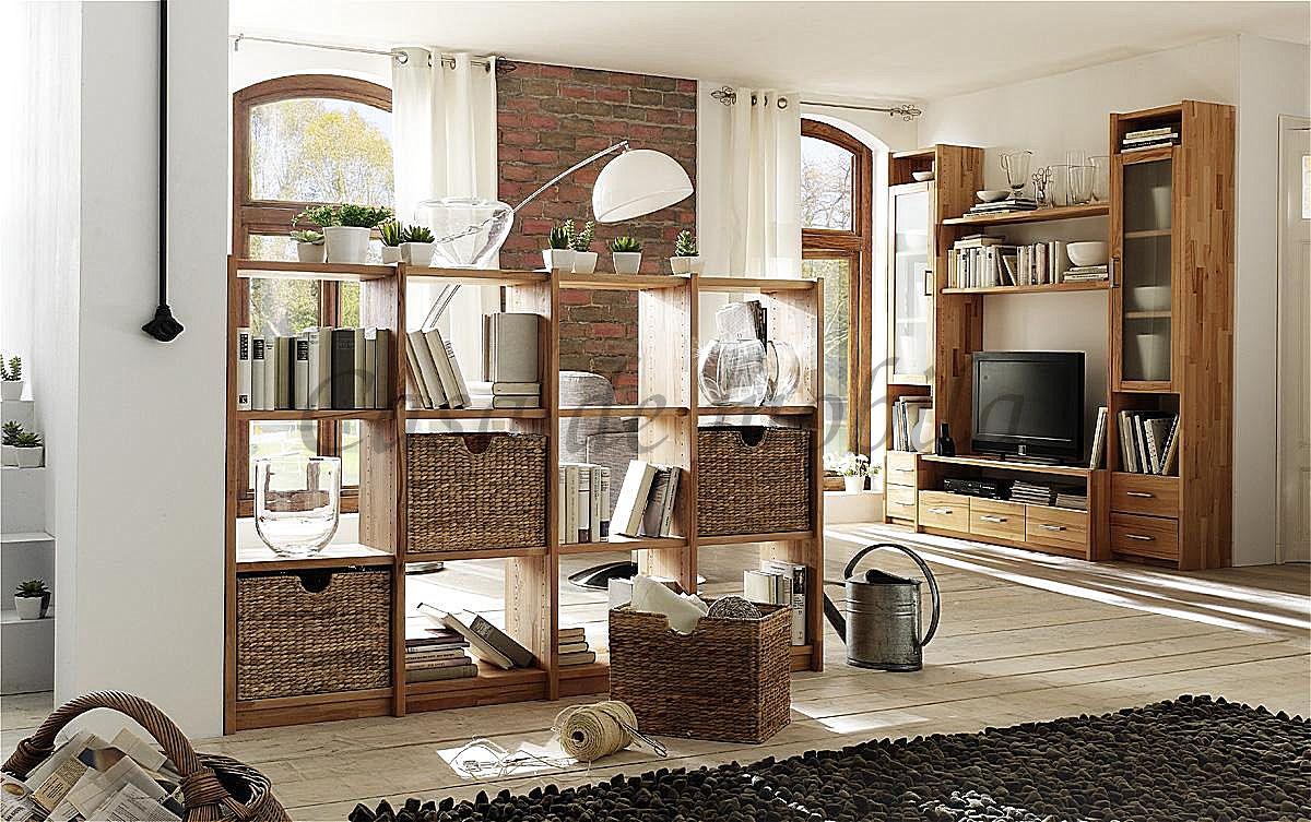Standregal Raumteiler aus Massivholz