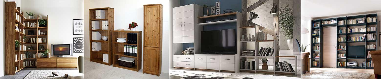 Massivholz Regal Regalsystem Wohnwand, Arbeitszimmer