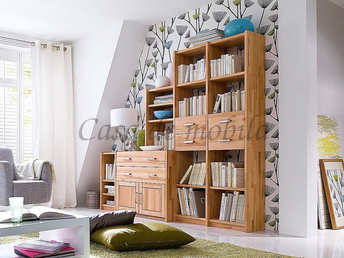 Massivholz Stufenregal Buche CONTRA
