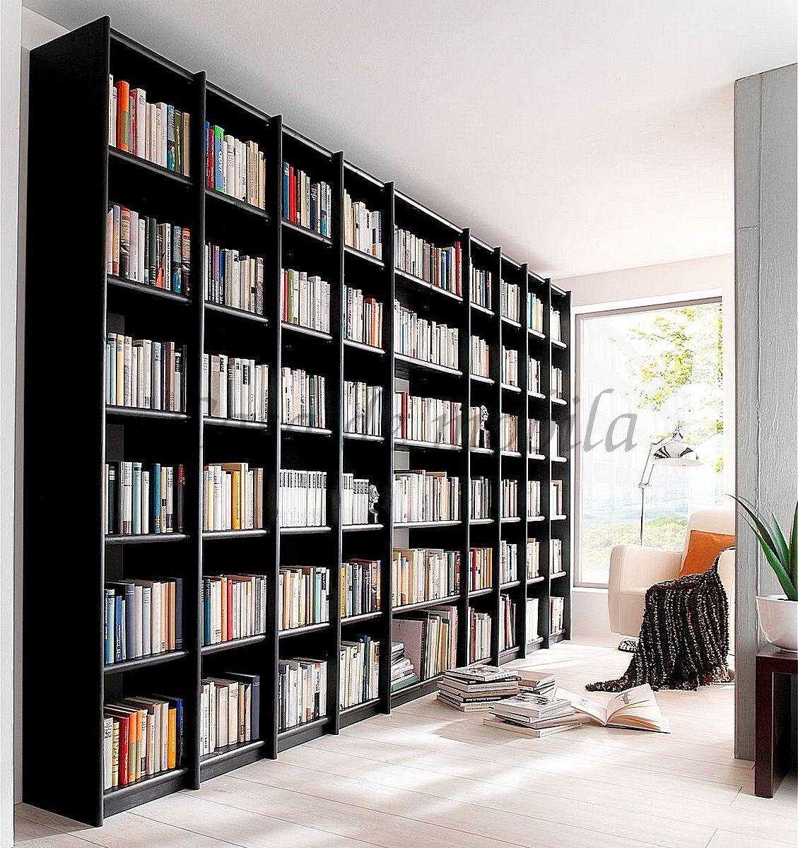 Bücherregal Massivholz Kiefer lackiert CONTRA