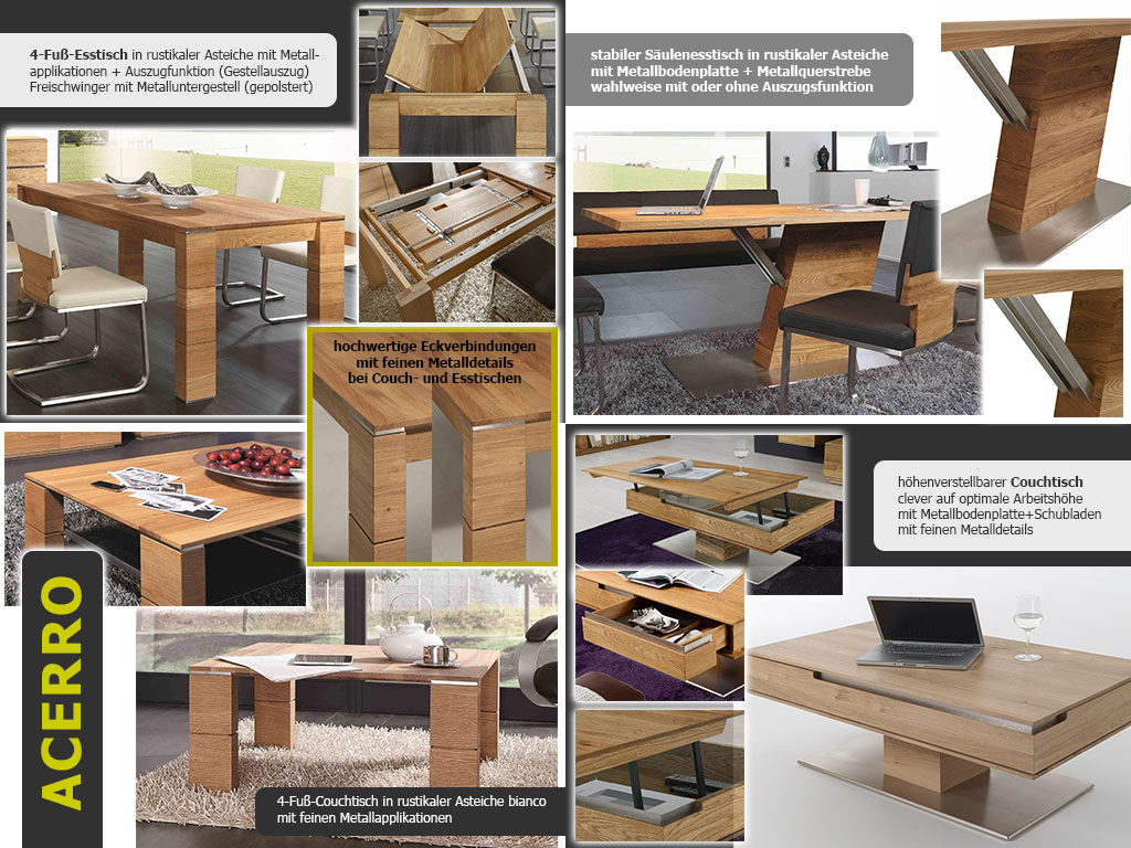 Tischmodelle im Vergleich