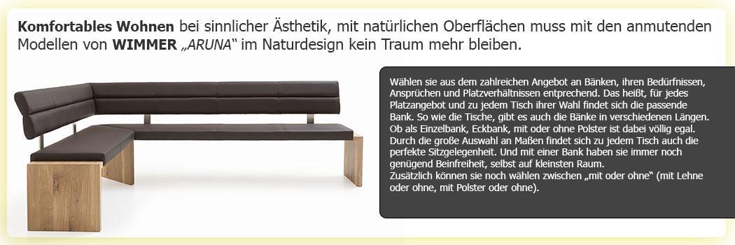 Sitzmöglichkeiten Bänke, Stühle ARUNA