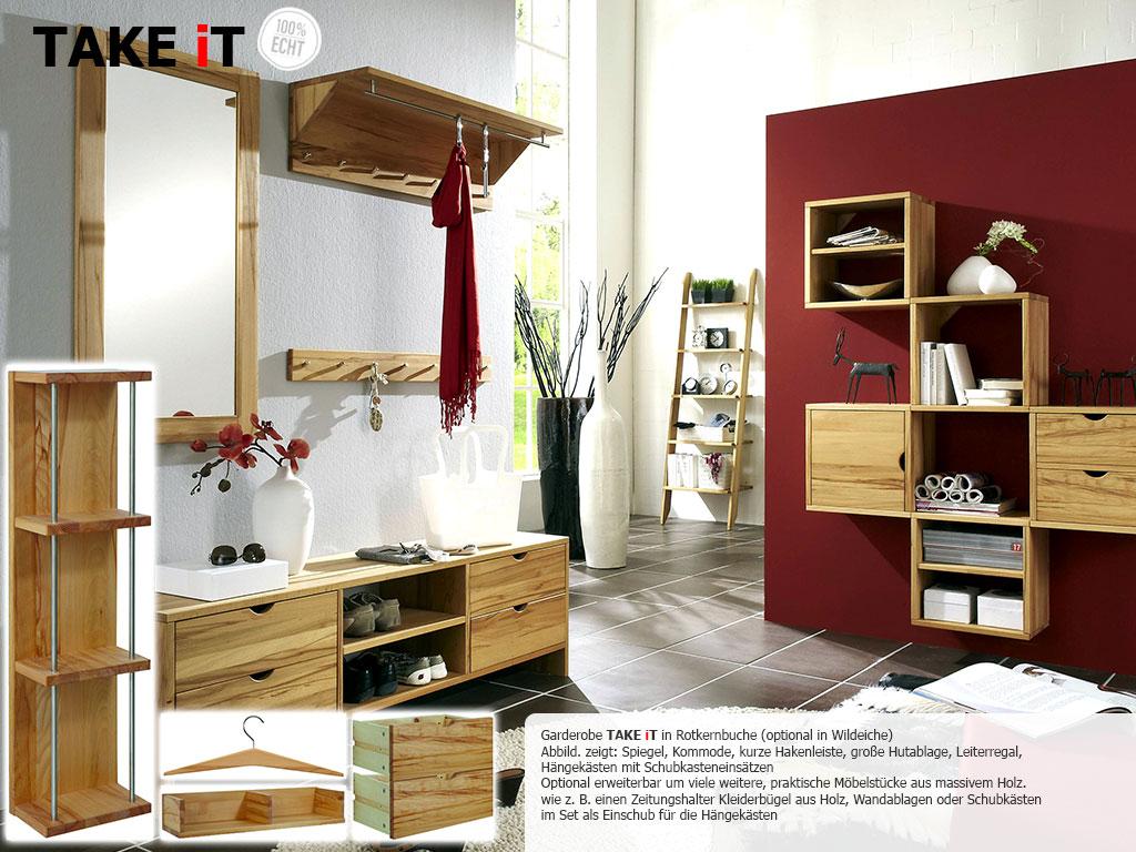 Flur- und Garderobenmöbel aus Rotkernbuche