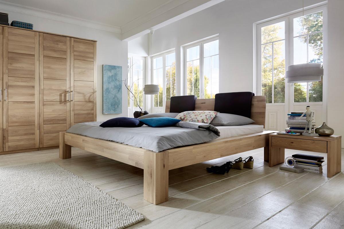 Massivholz Schlafzimmer Doppelbett Hercules Asteiche m&h