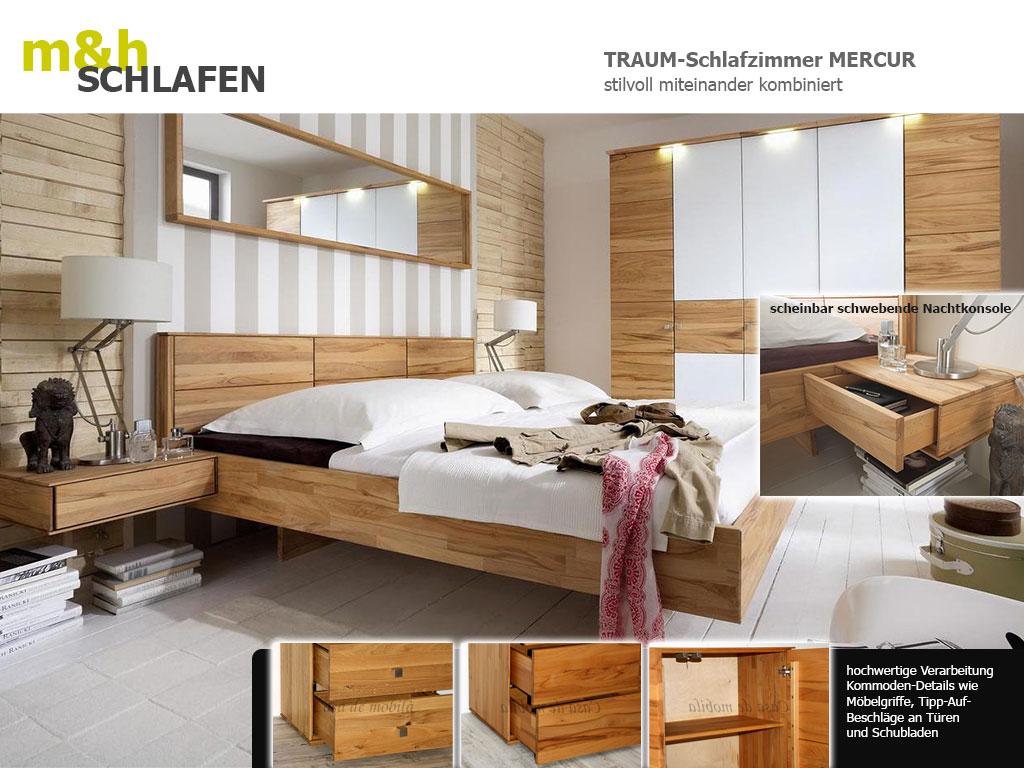 Massivholz-Schlafzimmer-Mercur-Kommoden-Kernbuche