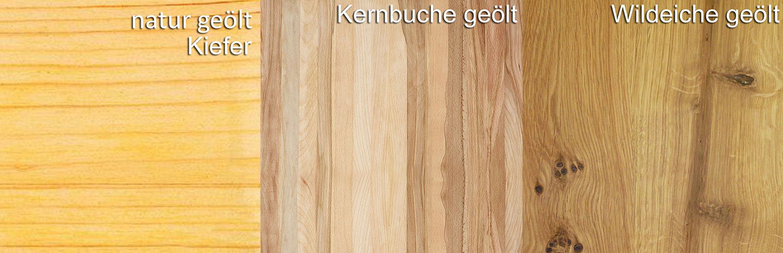 Holzarten Iversen Möbelkollektion