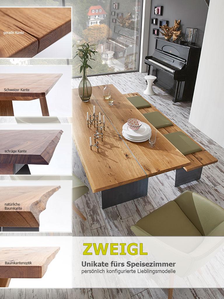 Zweigl Speisezimmer Tischkanten-Arten
