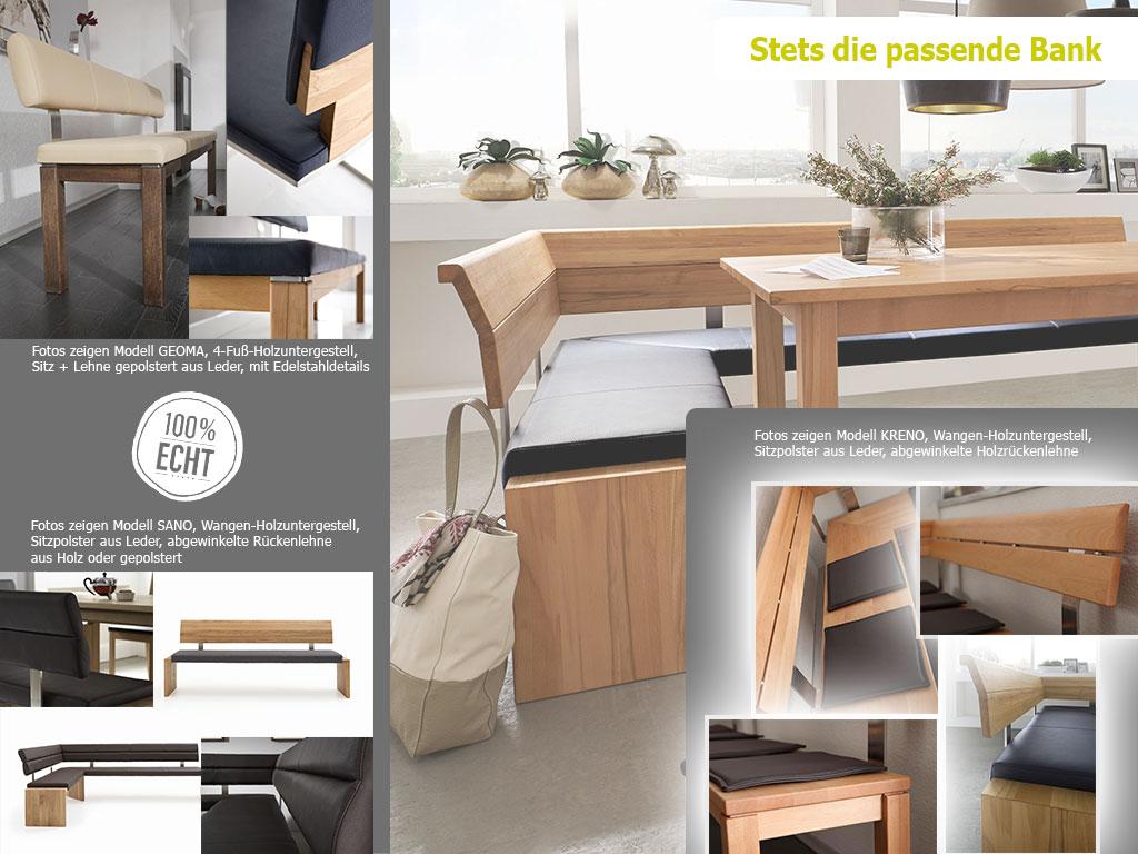 Bänke aus der Serie Holztisch nach Maß