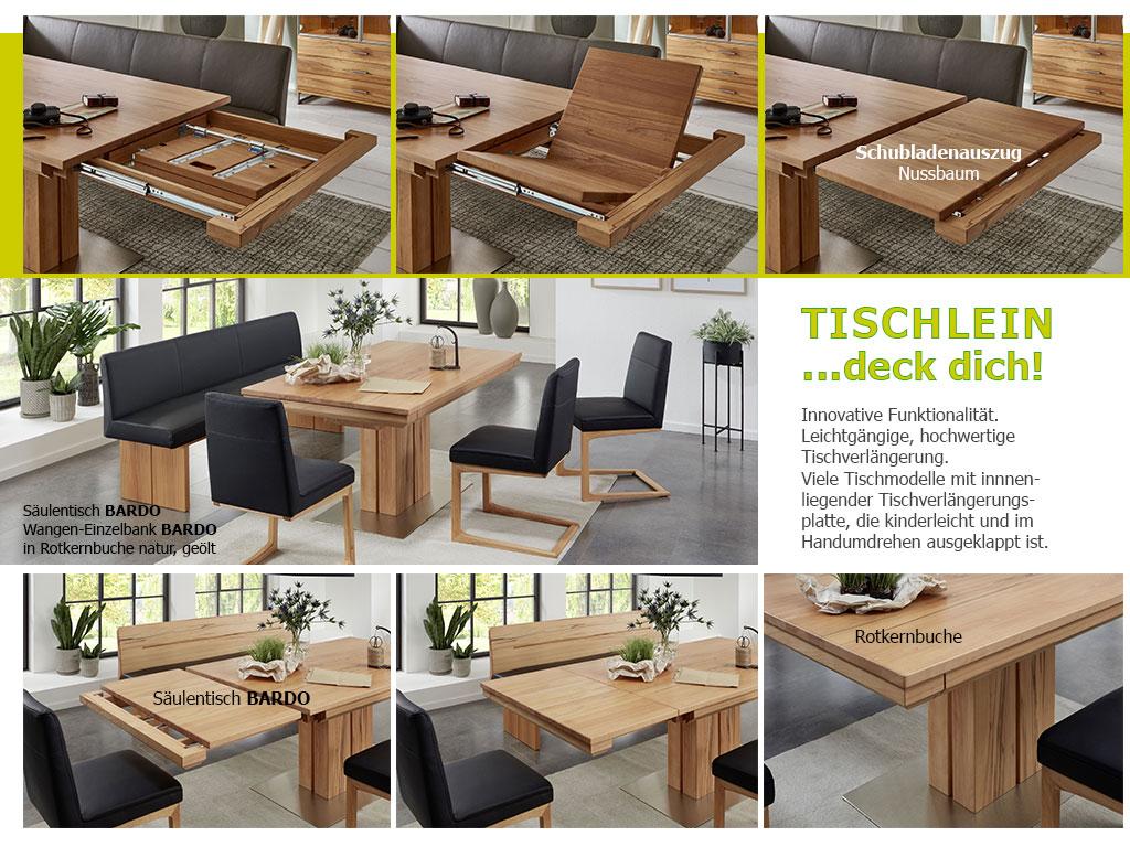 Esstisch Säulentisch-Massivholztisch-Esstisch