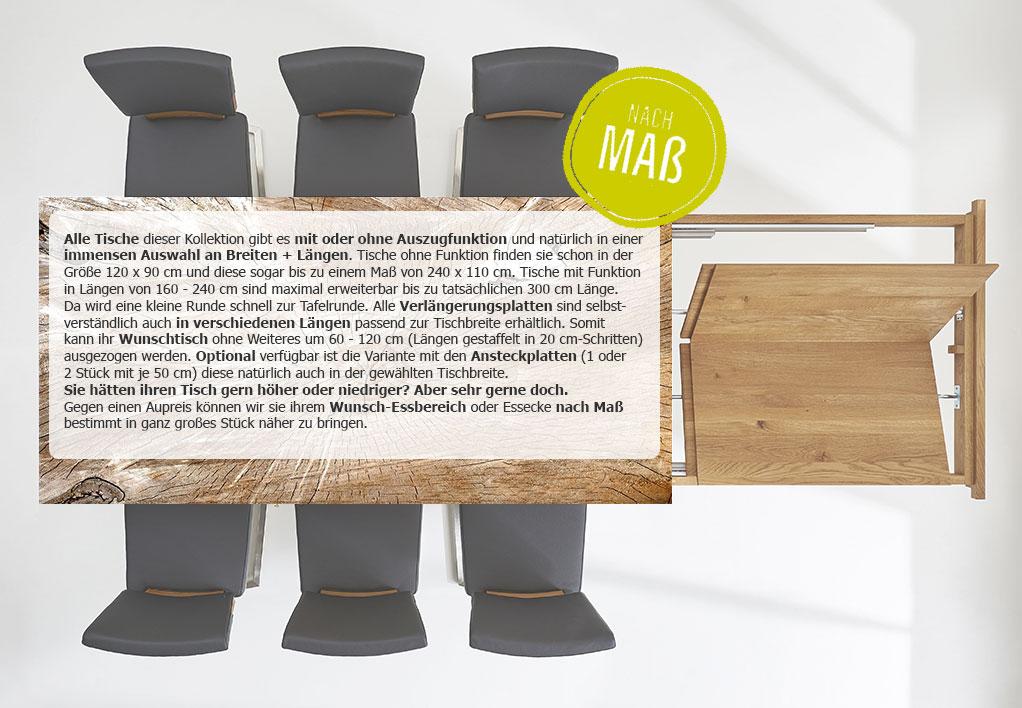 Massivholz Holztisch + Sitzbank nach Maß