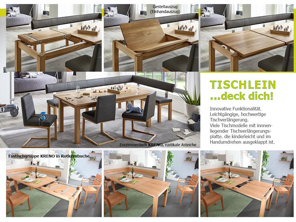 Tischauszugvarianten-4-Fuss-Küchentisch-KRENO-Gestellauszug