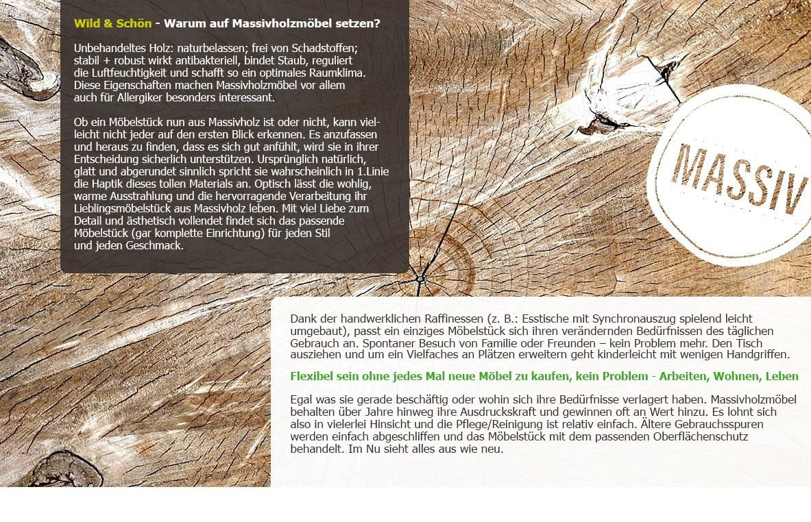 Warum Massivholzmöbel?