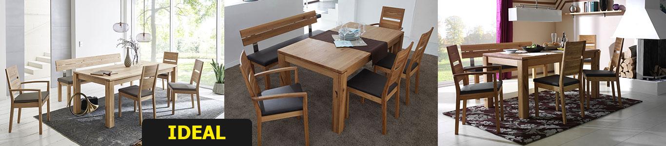 Massivholz Holztisch Esstisch ausziehbar Asteiche Buche