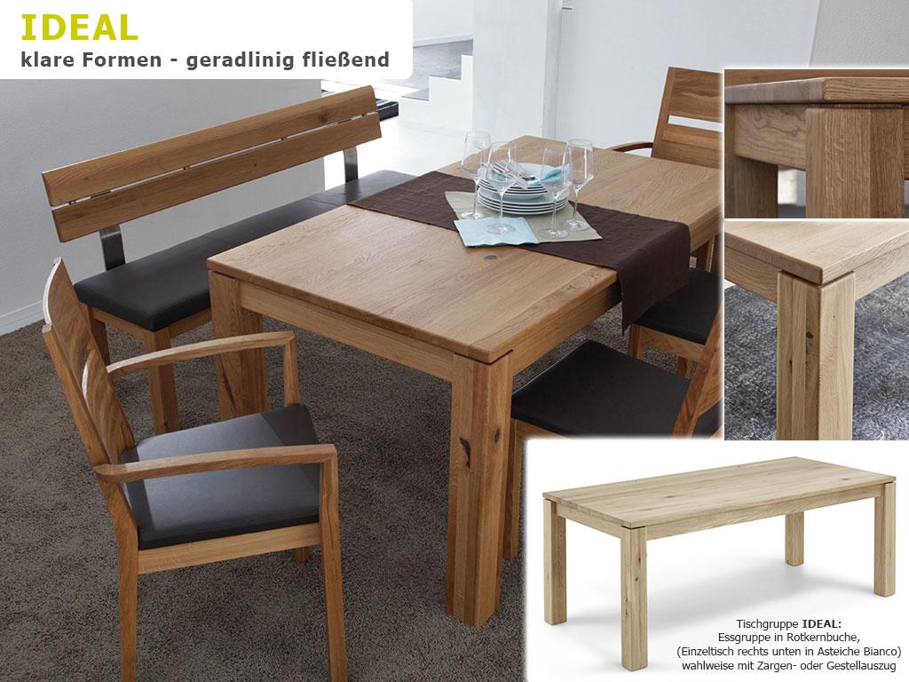 Massivholz-Tischgruppe-Esszimmer-Kernbuche