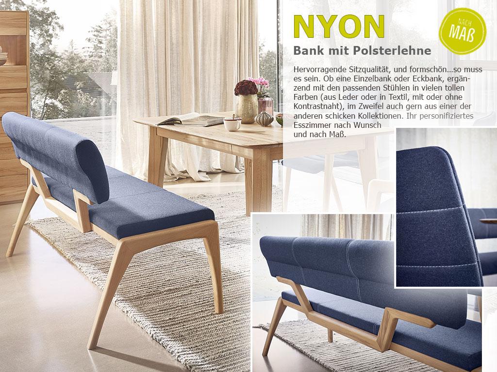Nyon-Einzelbank-Polster-Textil