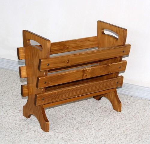 zeitungsst nder holz nussbaum. Black Bedroom Furniture Sets. Home Design Ideas