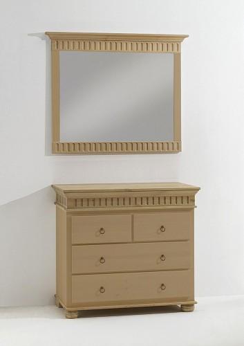 kommode mit spiegel schubladenkommode wandspiegel kiefer. Black Bedroom Furniture Sets. Home Design Ideas