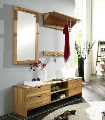massivholz wandpaneel garderobe hutablage wildeiche ge lt. Black Bedroom Furniture Sets. Home Design Ideas