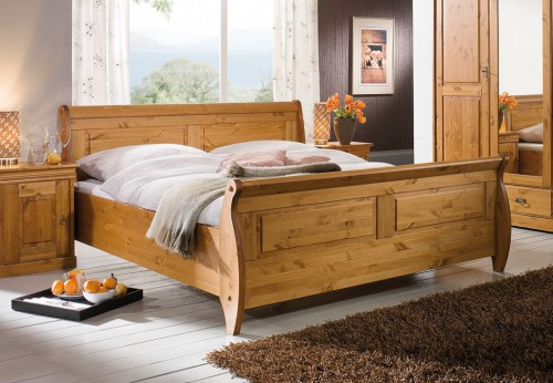 massivholz schlafzimmer komplett set kiefer massiv holz honig. Black Bedroom Furniture Sets. Home Design Ideas