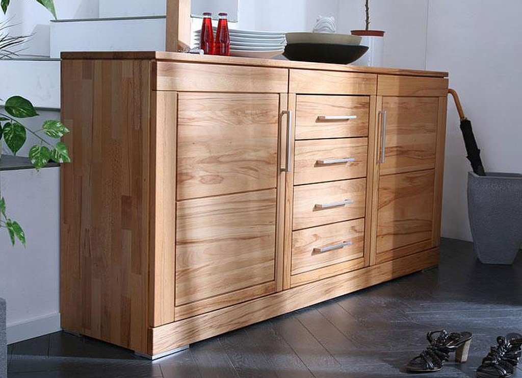 casera sideboard anrichte kommode kernbuche massiv holz. Black Bedroom Furniture Sets. Home Design Ideas