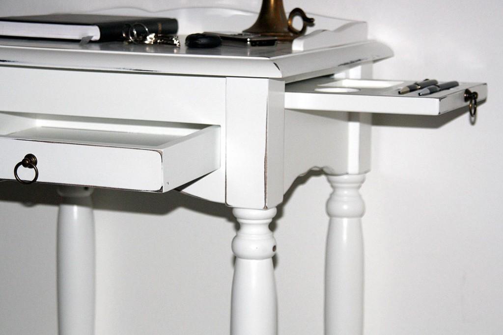 massivholz konsolentisch wei shabby chic telefontisch beistelltisch. Black Bedroom Furniture Sets. Home Design Ideas