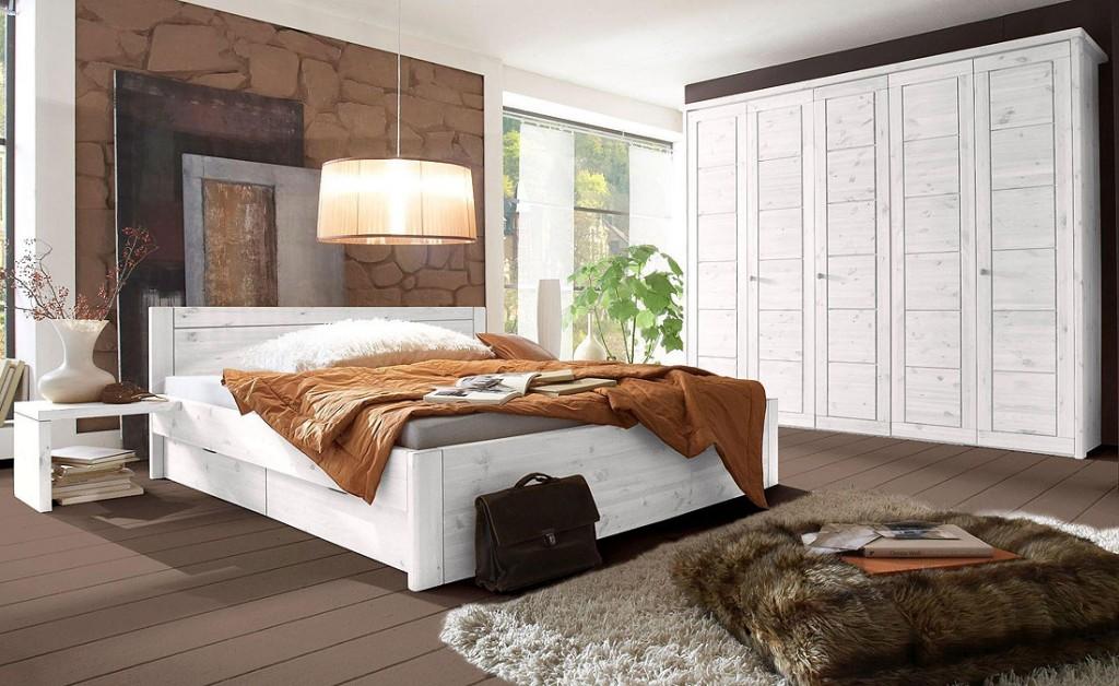 Schlafzimmer Landhausstil Kiefer Wohndesign Und Möbel Ideen - Schlafzimmer landhaus weib