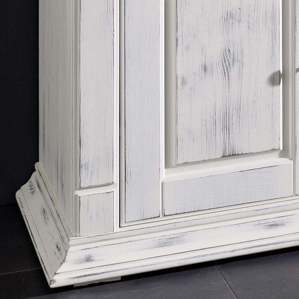 massivholz tv lowboard wei tv kommode kiefer shabby chic. Black Bedroom Furniture Sets. Home Design Ideas